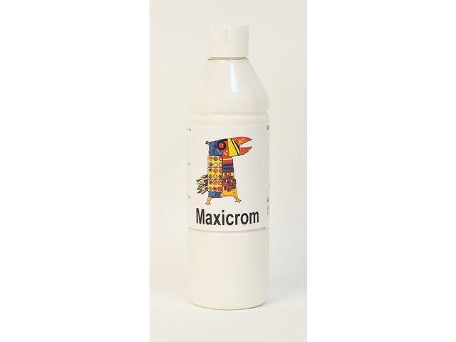 Målarfärg Maxicrom (mulitcrom) Vit, 500ml