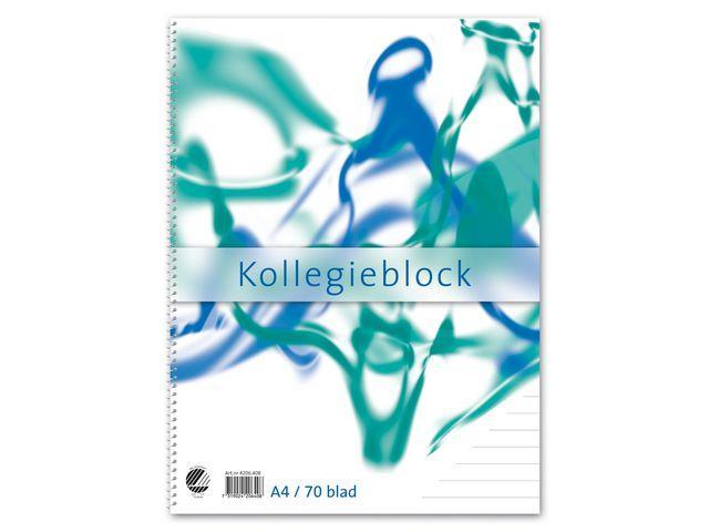 Kollegieblock A4, linjerat, 60g 10st