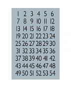 Herma etikett siffror 1-100 13x12 svart/silver
