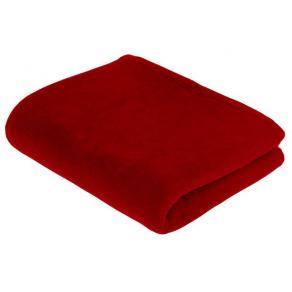 Vilset kudde och filt röd