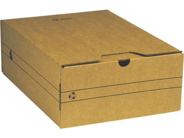 Arkivbox A4, wellpapp, 12cm 25st