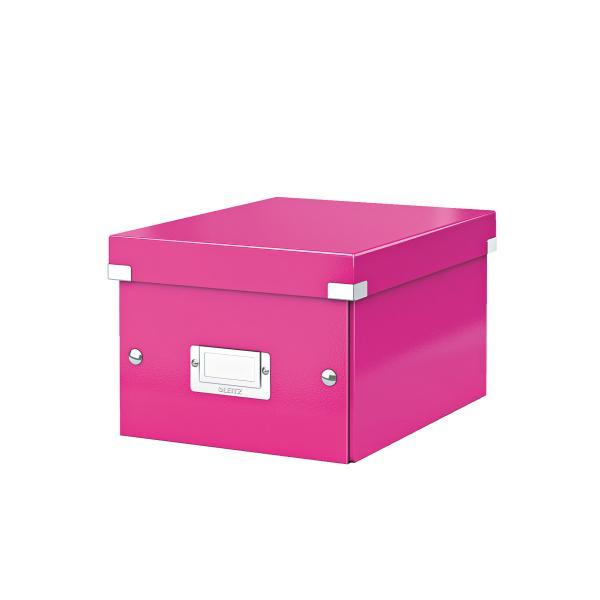 Förvaringslåda Liten Click & Store WOW Rosa, 6st 6st