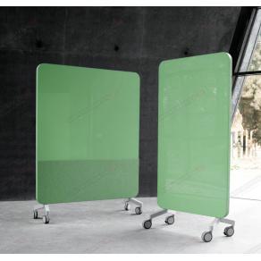 Skrivtavla Lintex Mobile Fabric, 1500x1960mm, Grön, grå stativ
