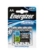 Batteri Energizer Lithium AA, 4/fp