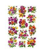 Herma stickers Decor blommor glitter (2)