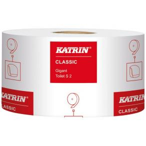 Toalettpapper KATRIN Classic Gigant S, 2-lagers, 200m, 12/fp