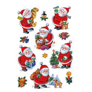 Herma stickers Decor glad santa claus (3) 10st