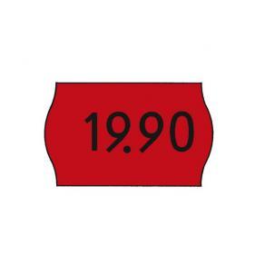 Prisetikett Meto G2 Röd, permanent, 26x16mm, 6rl/fp