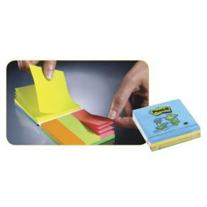 Post-It Rainbow Multiblock, 3st 76x76mm + 3st 25x76mm