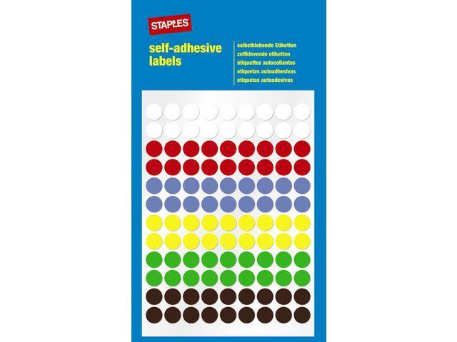 Etikett STAPLES 8mm sort.färger 648/FP