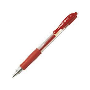 Gelkulpenna PILOT G-2 Fine Röd, 0.5mm, 12st