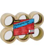 Packtejp SCOTCH 371 Klar, PP/gummi, 50mm x 66m, 6/FP