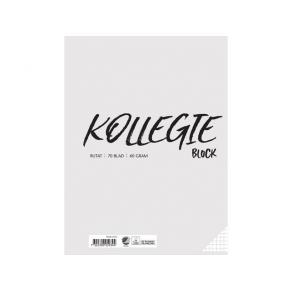 Kollegieblock A4 60g 70 blad rutat