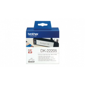 Etiketter BROTHER Löpande bred tejp DK-22205, 62mm x 30m