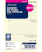 Filofax Dagbok Pocket 2019 V/U