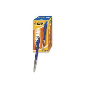 Bläckkulpenna BIC Clic M10 Medium Blå, 1.0mm, dokumentäkta, 50st