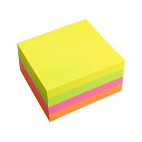 Notes Kub, 75x75mm, neon, 400bl