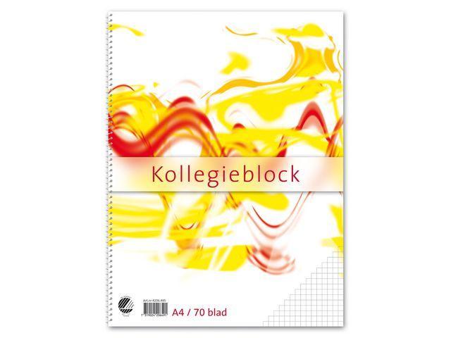 Kollegieblock A4, rutat, 60g, 10st 10st