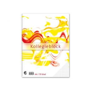 Kollegieblock A4, rutat, 60g, 10st