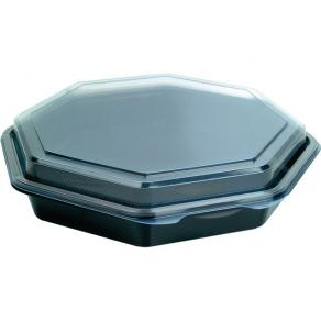 Plastlåda med lock Octaview, 1 portion, 230x230x50mm, 190/fp