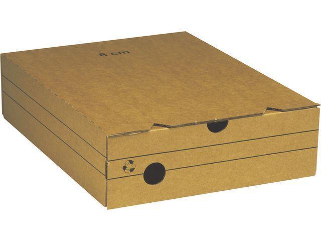 Arkivbox A4, wellpapp, 8cm 25st