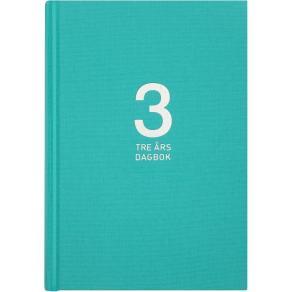 3-årsdagbok linne turkos - 1120