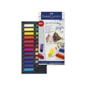 Torrpastellkritor Faber-Castell, 24 färger