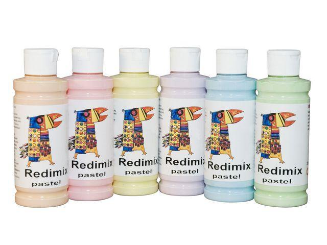 Redimix Pastell, 250ml x 6 färger
