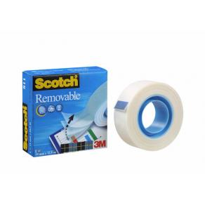 Dokumenttejp Scotch Removable Magic 811, osynlig, 19mm x 33m