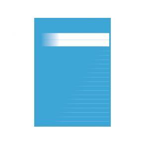 Skrivhäfte A5 linjerat 8,5mm mellanblå