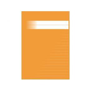 Skrivhäfte A5 linjerat 8,5mm orange