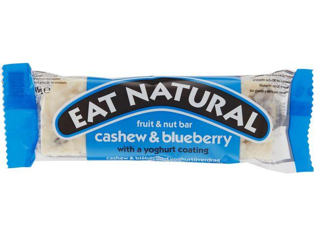 Energibar EAT NATURAL Cashew, Blåbär & Yogurt, 45g, 12st 12st