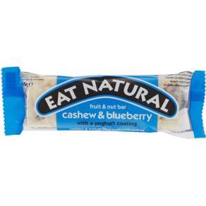 Energibar EAT NATURAL Cashew, Blåbär & Yogurt, 45g, 12st