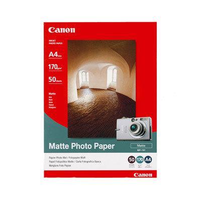 Fotopapper Bläckstråle CANON MP-101, A4, 170g, matt, 50/fp
