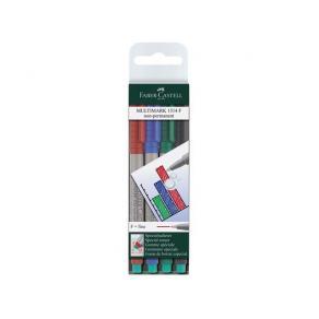 OH-Penna/Märkpenna Faber Castell 4set, fine, vattenlöslig