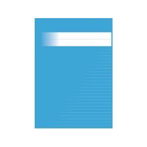 Skrivhäfte A4 linjerat 8,5mm mellanblå