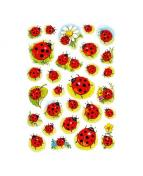 Herma stickers Decor nyckelpiga/blommor (3)