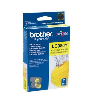 Brother LC980Y - Gul - original - bläckpatron