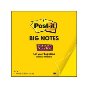 Post-it Supersticky Blad gul, 279x279mm, 30blad