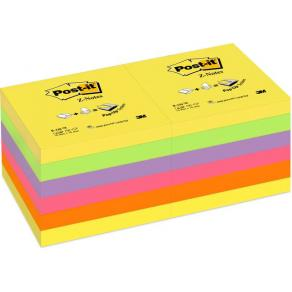 Post-It Z-block Rainbow, 76x76mm, 12st