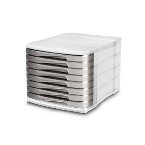 Blankettbox CEP 8 lådor grå