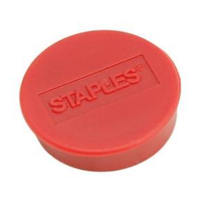 Magnetknappar STAPLES 25mm röd 10/FP