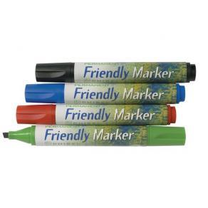 Märkpenna Friendly, sned, 4 färger/fp
