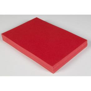 Dekorationskartong A4 Ljusröd, 220g, 100st