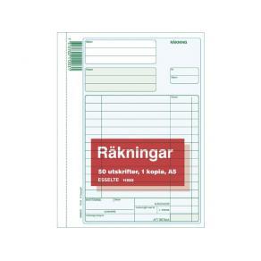 Räkning A5 med kopia, 2x50 blad, 5st