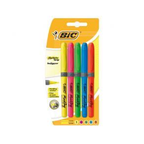 Överstrykningspenna BIC Brite Liner Grip, 5-pack