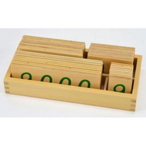 Sifferkort, trä, 24x11cm