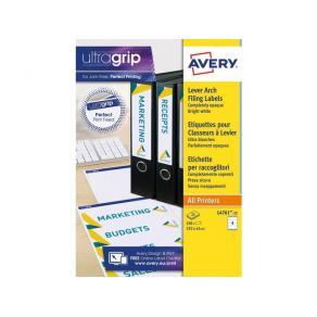 Etikett AVERY för bred pärmrygg 192x61mm, 100/fp