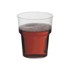 Plastglas, hårda, 24cl, 25/fp