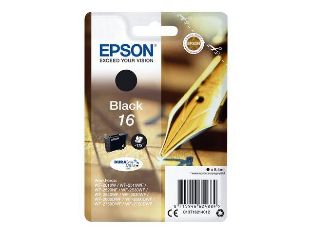 Bläckpatron EPSON C13T16214012 Svart